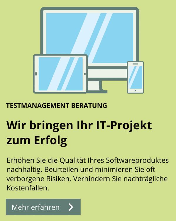 Mit unserer Testmanagement Beratung die Qualität Ihres Softwareproduktes nachhaltig erhöhen.