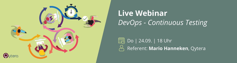 Webinar zum Thema DevOps und Continous Testing