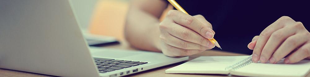 Teilnehmer nimmt an Online Kurs teil.