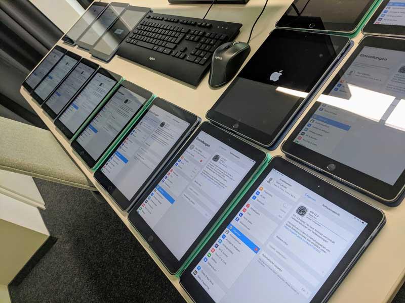 iPads für ISTQB und IREB Prüfungen in unseren Testcenter