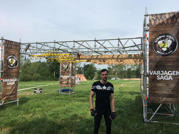 Pascal Moll beim Strong Viking Hindernislauf