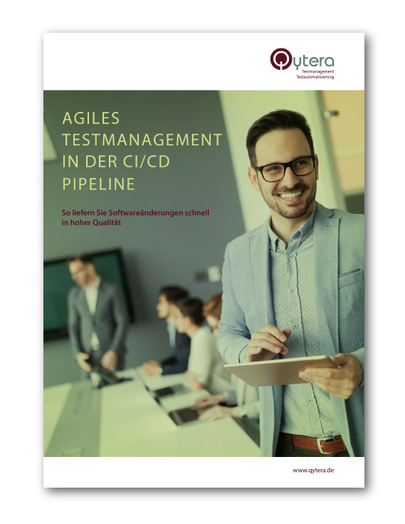Ebook Cover - Agiles Testmanagement in der CI/CD Pipeline