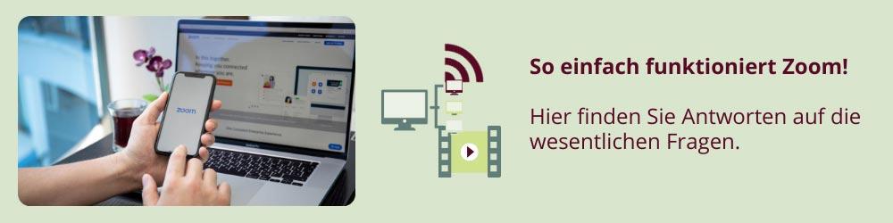 Anleitung für Zoom Video Meetings bei Qytera